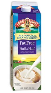 fat free half and half