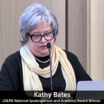 kathy bates national le spokesperson