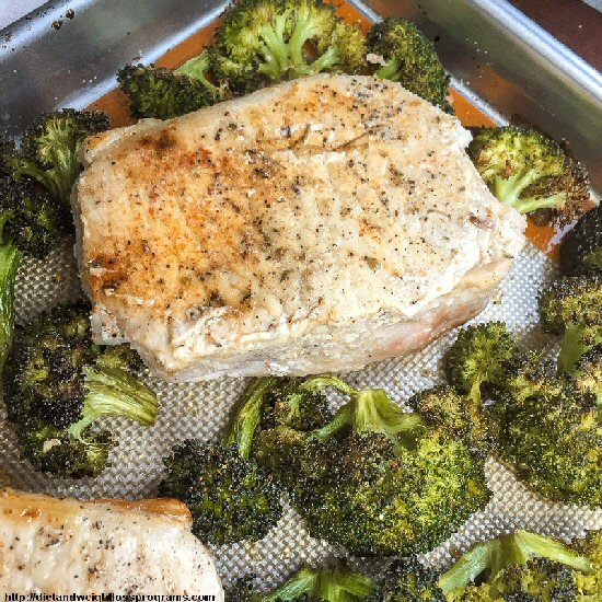Broccoli and Pork Chops